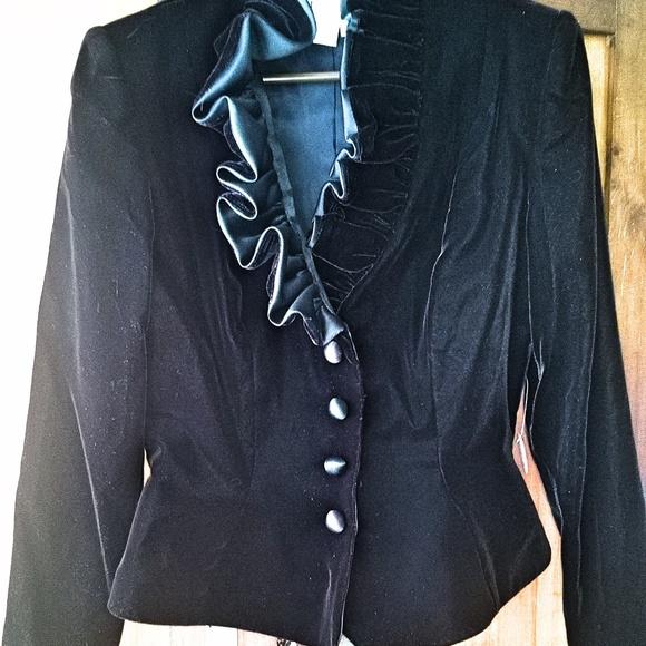 After Five Jackets & Blazers - Gothic Black Velvet Victorian Jacket